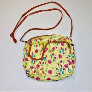 Kids yellow flowered purse